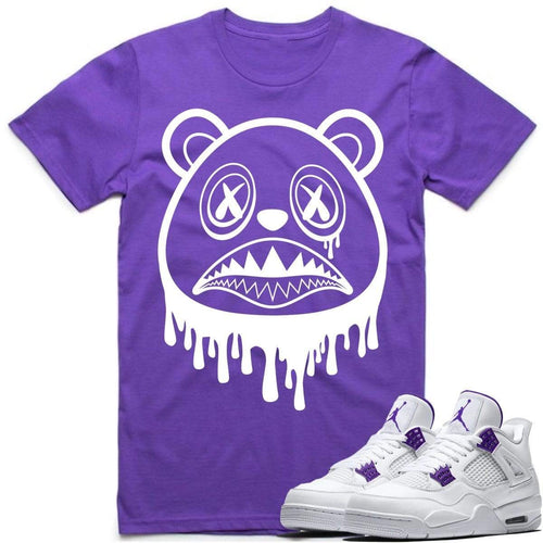 Sneaker Clothing Shirts T-Shirt BAWS DRIP - Jordan Retro 4 Metallic Purple 2020 Sneaker Tees Shirts to Match