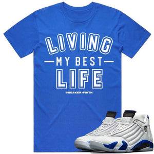 Sneaker Clothing Shirts T-Shirt BEST LIFE - Jordan Retro 14 Hyper Royal Blue Sneaker Shirt Tees to Match