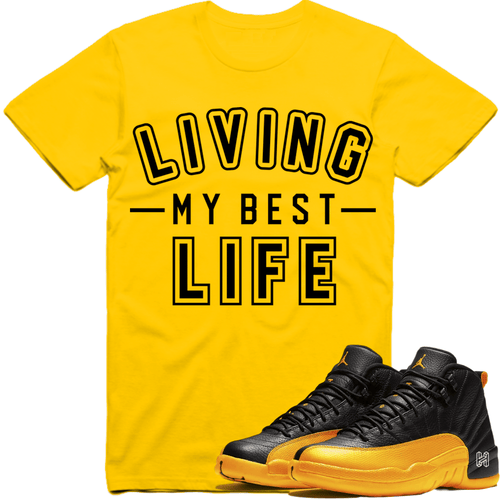 Sneaker Clothing Shirts T-Shirt Jordan Retro 12 University Gold Gary Payton Sneaker Tees Shirt to Match - BEST LIFE