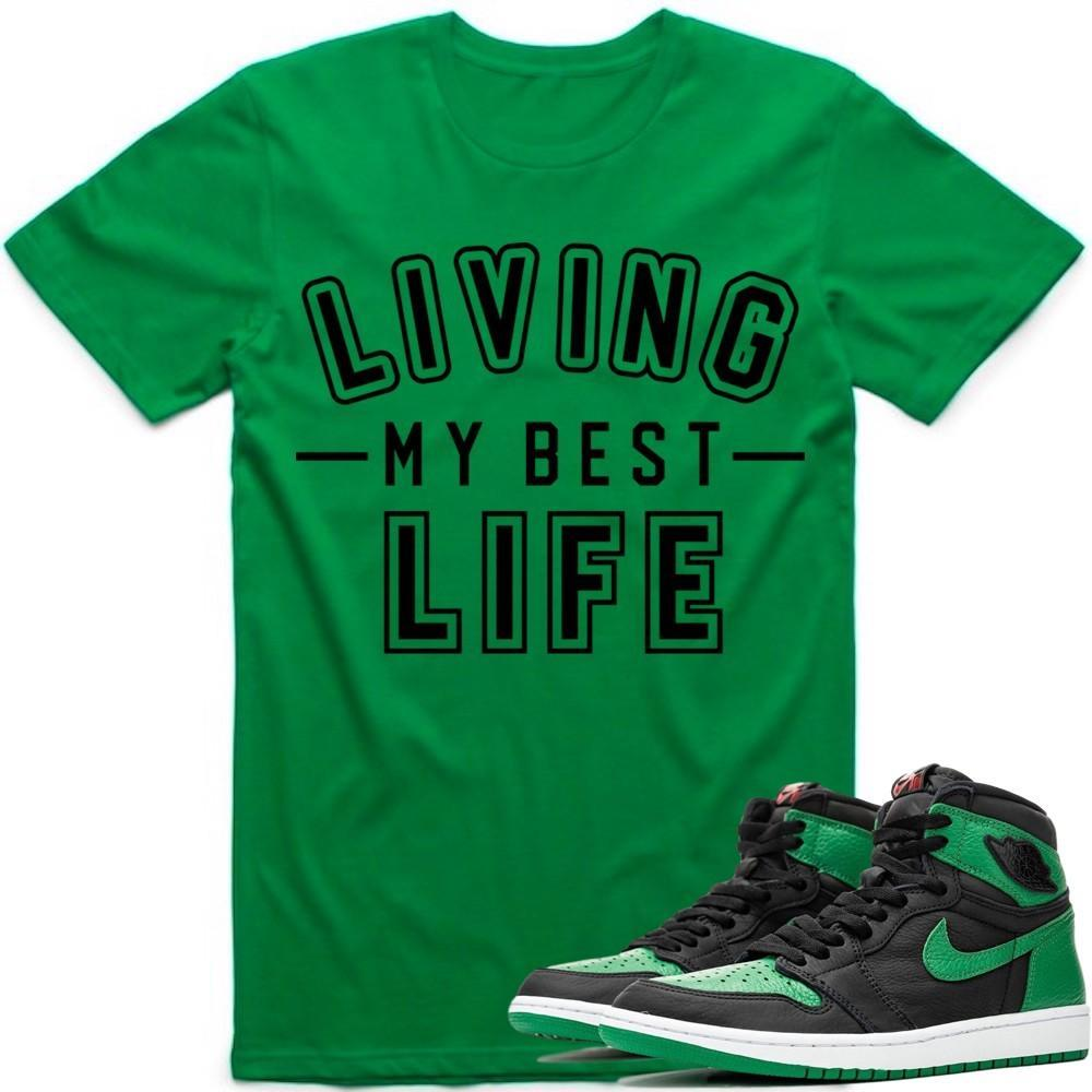 Sneaker Clothing T-Shirt Jordan Retro 1 Pine Green 2020 Sneaker Tees Shirt to Match - BEST LIFE