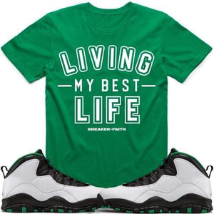 Sneaker Clothing T-Shirt Jordan Retro 10 Seattle Sneaker Tees Shirt to Match - BEST LIFE