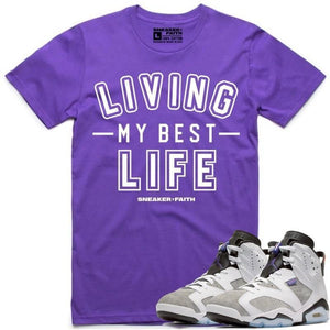 Sneaker Clothing T-Shirt Small Jordan Retro 6 Flint Sneaker Tees Shirt to Match - MY BEST LIFE