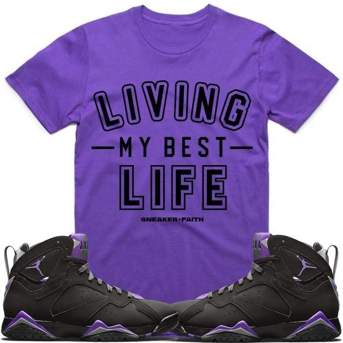 Sneaker Clothing T-Shirt Small Jordan Retro 7 Bucks Ray Allen Sneaker Tees Shirt to Match - BEST LIFE