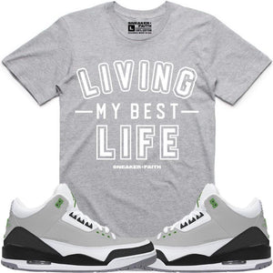 e68dc8d0fb4234 Sneaker Faith T-Shirt LIVING MY BEST LIFE Sneaker Tees Shirt to Match -  Jordan