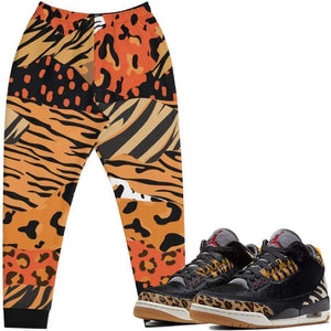 "XGear101.com Baws All Over Print (Animal) Joggers - Jordan Retro 3 ""Animal"""