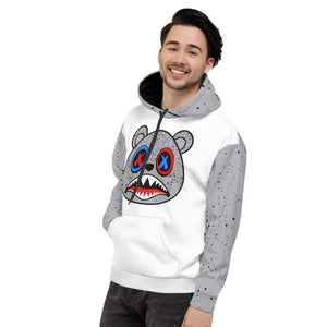 XGear101.com Baws All Over Print (Cement) Hoodie - Jordan Retro 4 What the Cement