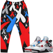 XGear101.com Baws All Over Print (Cement) Joggers - Jordan Retro 4 What the Cement