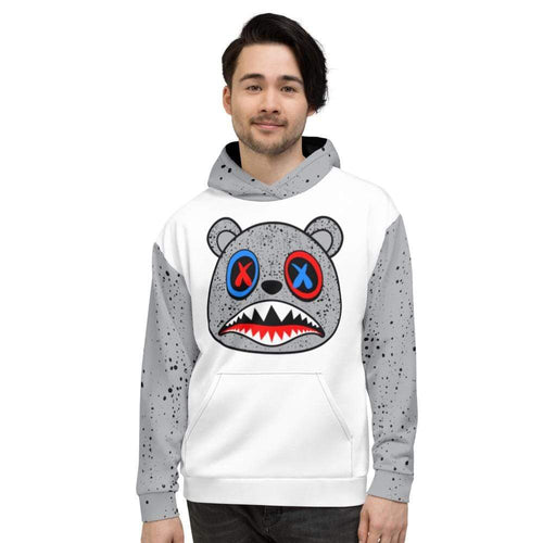 XGear101.com S Baws All Over Print (Cement) Hoodie - Jordan Retro 4 What the Cement