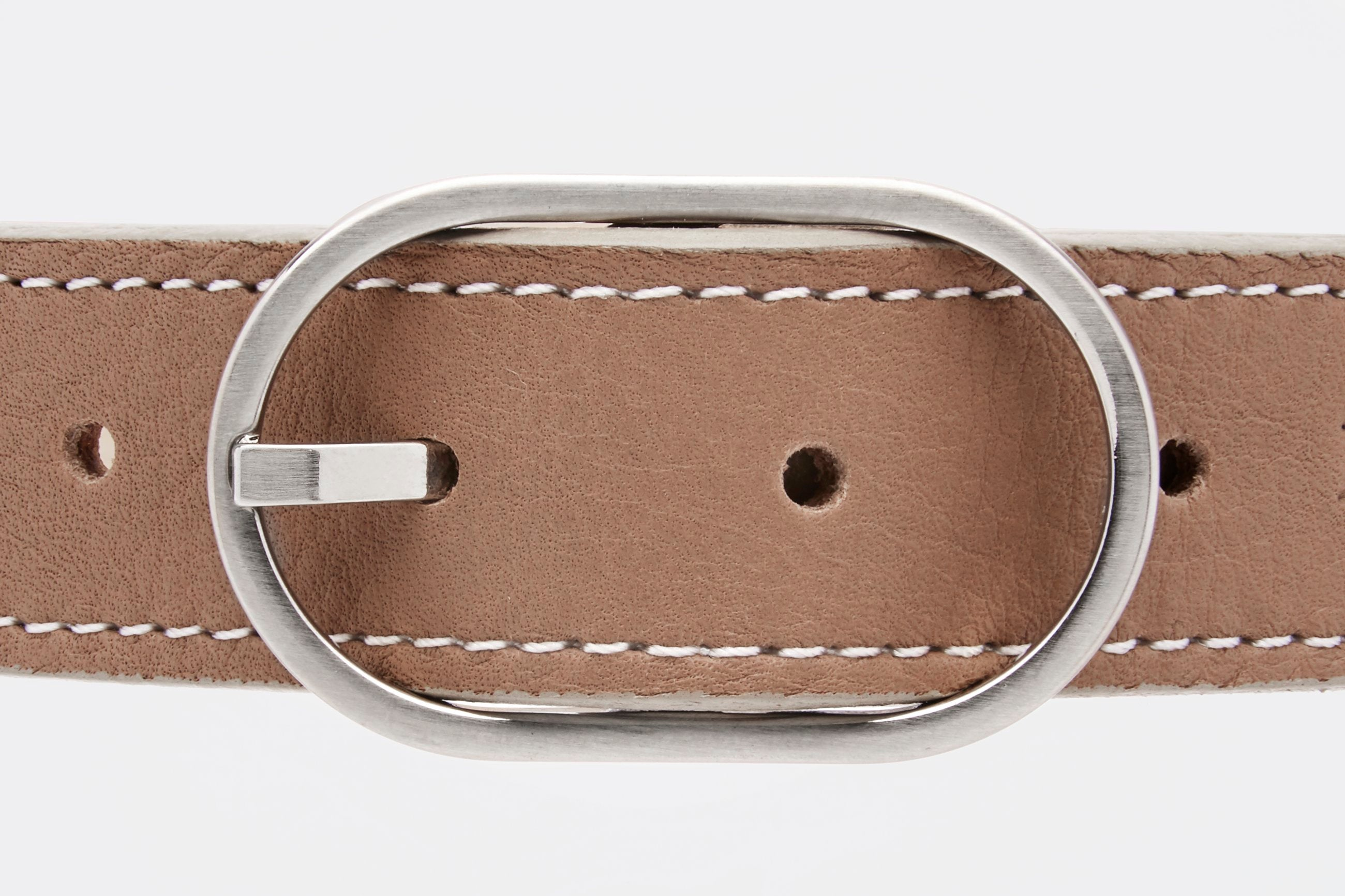 Nero & Sofia Taupe Abbracci Collection Dog Collar - Nero & Sofia