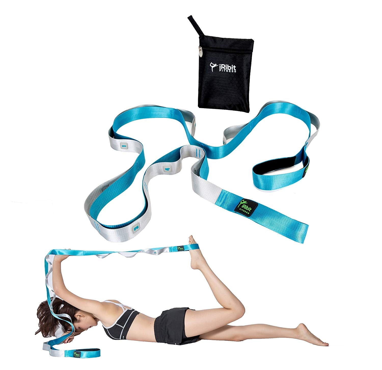 8 Ft Long Stretching Strap For Physical Therapy Yoga Pilates Ballet Iribit Fitness