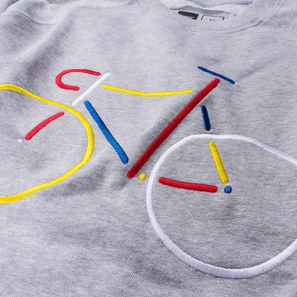 EMBROIDERY BIKE SWEATSHIRT