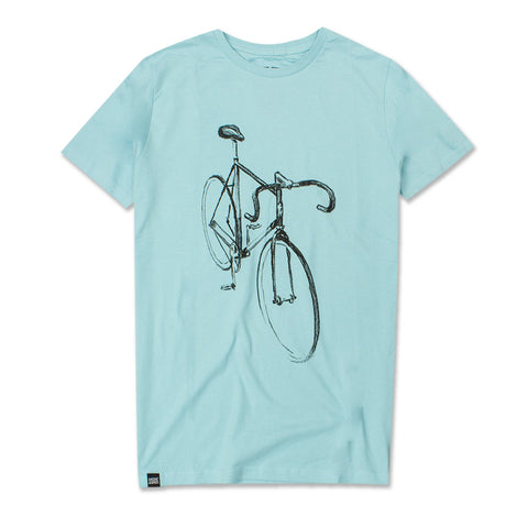 Camiseta Drawn Bike Blue