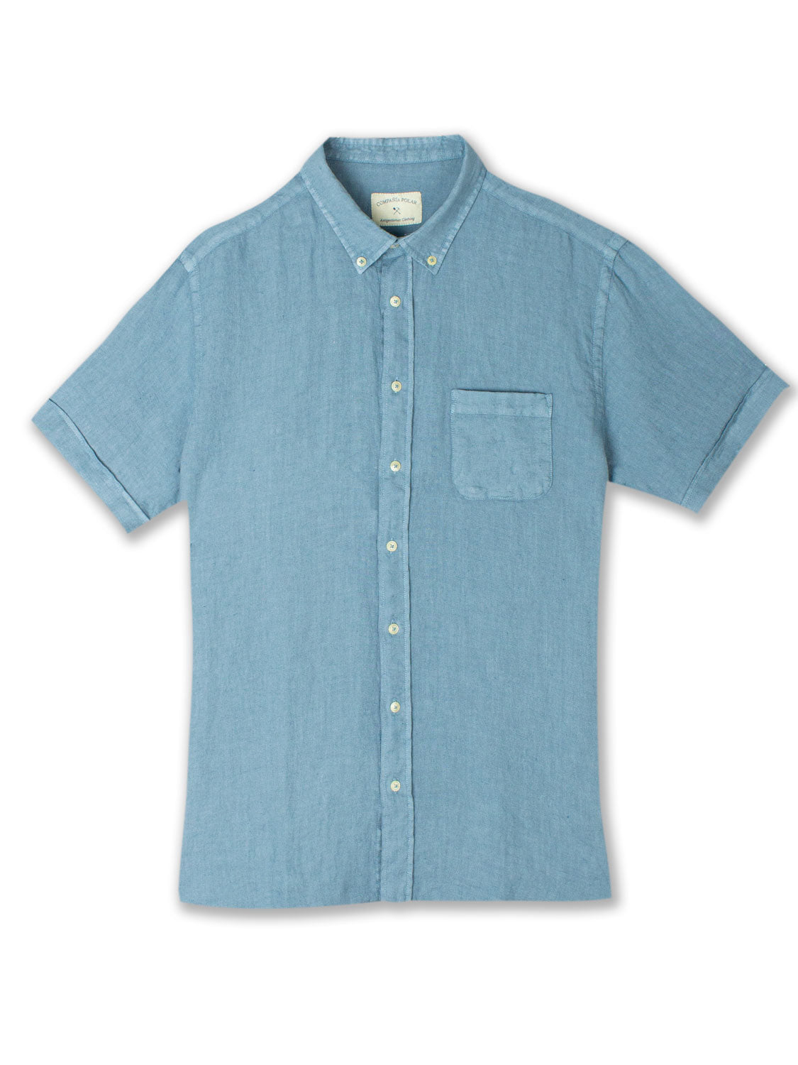 HANK SHIRT LINEN LIGHT BLUE