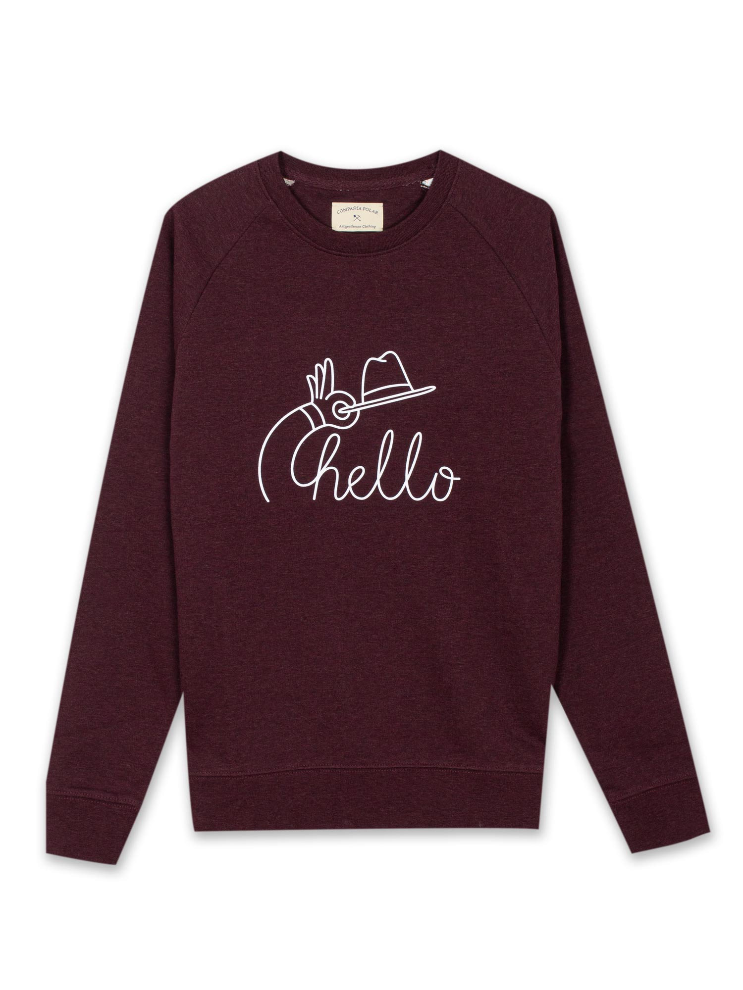 HELLO SWEATER BURGUNDY