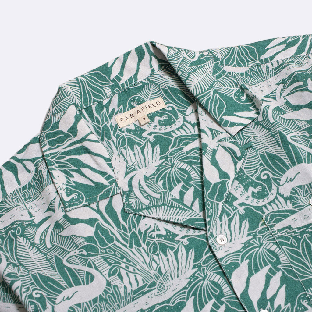 SELLECK SHIRT GREEN SALINES PRINT