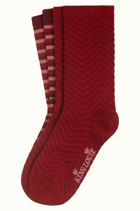 ROMAN STRIPE SOCK RED