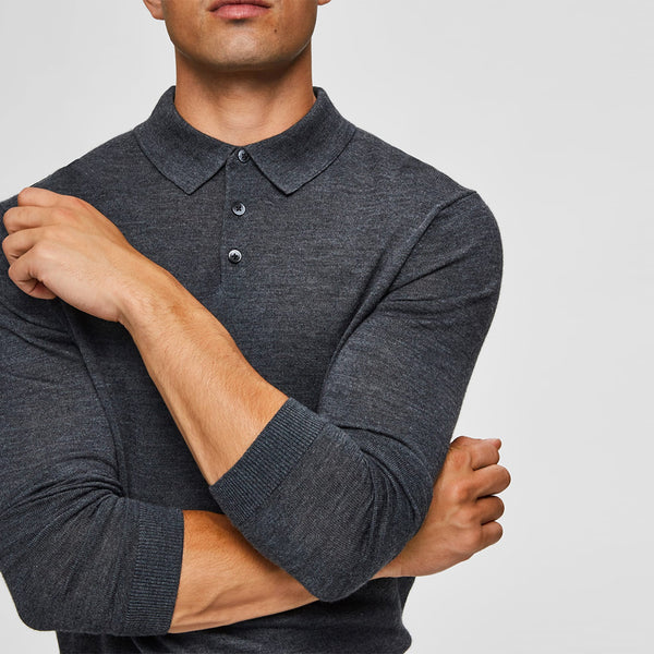MERINO POLO GREY
