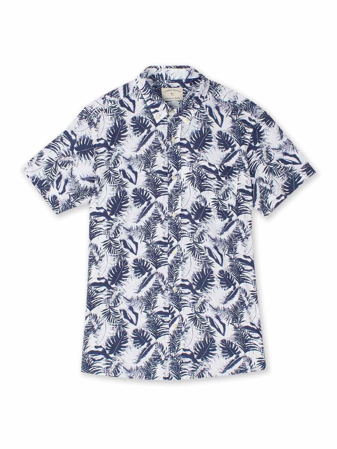 HANK SHIRT MONSTERA WHITE