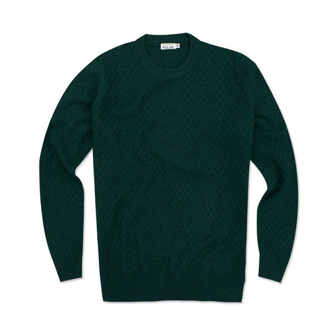 CHECK SWEATER GREEN