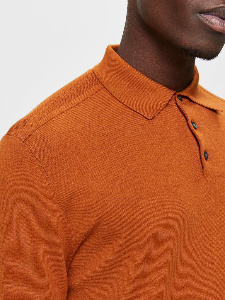 LONG POLO PIMA PUMPKIN