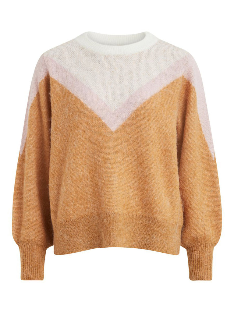 MULTI-COLOURED KNITTED PULLOVER