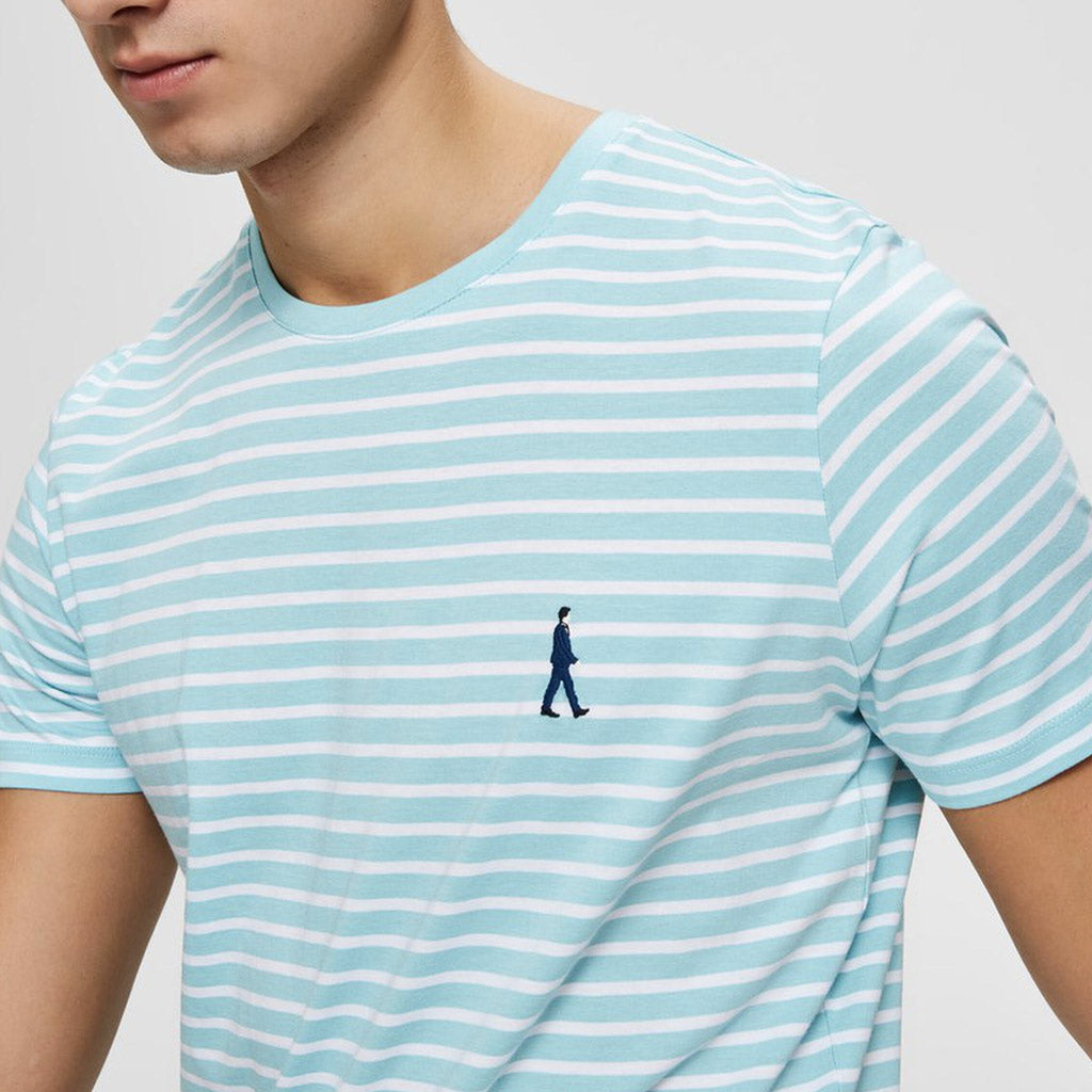MAN STRIPE T SHIRT SKY