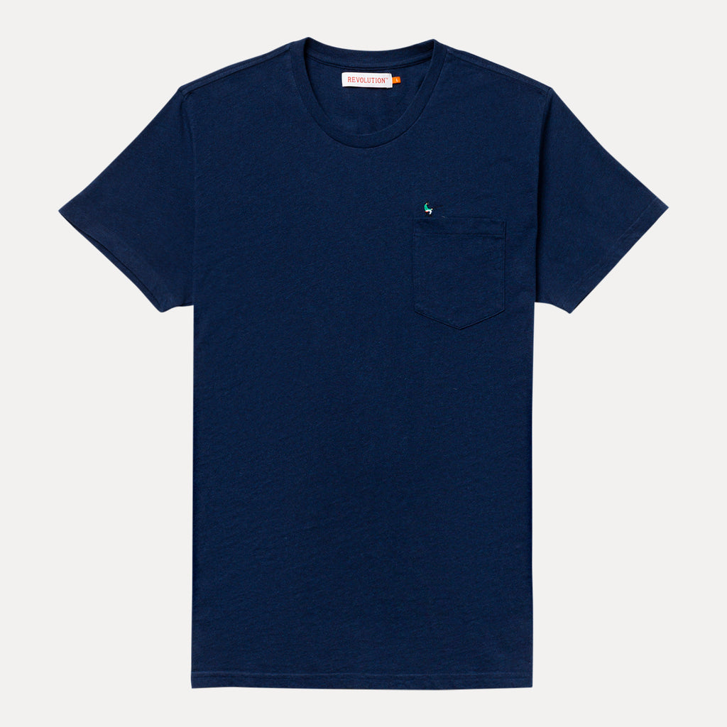 FISHER T-SHIRT NAVY MELANGE