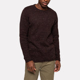 STRUCTURED NEP SWEATER BROWN
