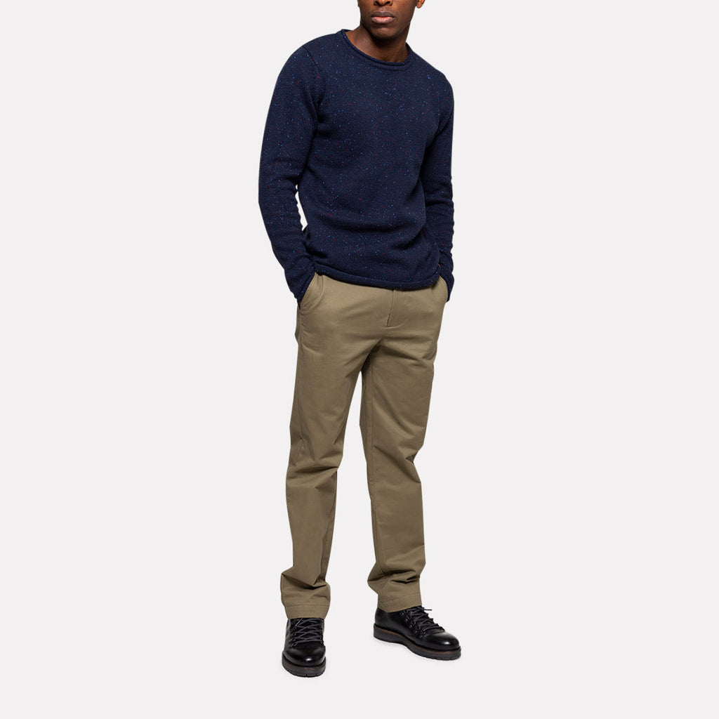 STRUCTURED NEP SWEATER NAVY