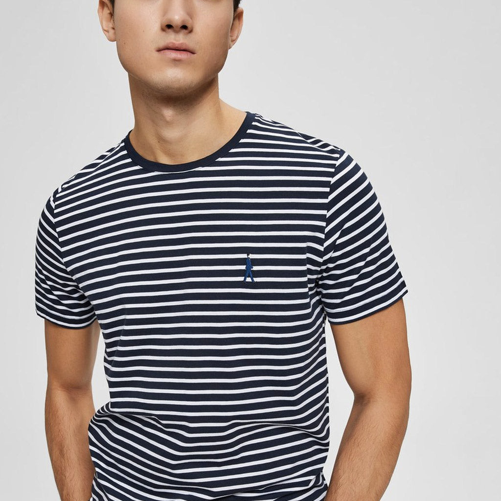 MAN STRIPE T SHIRT NAVY
