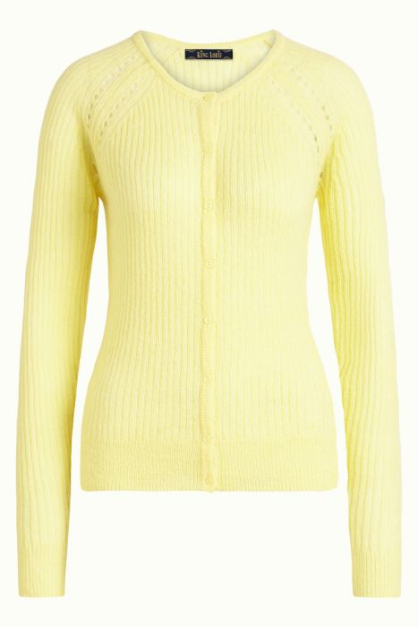 FLUFFY CARDIGAN YELLOW
