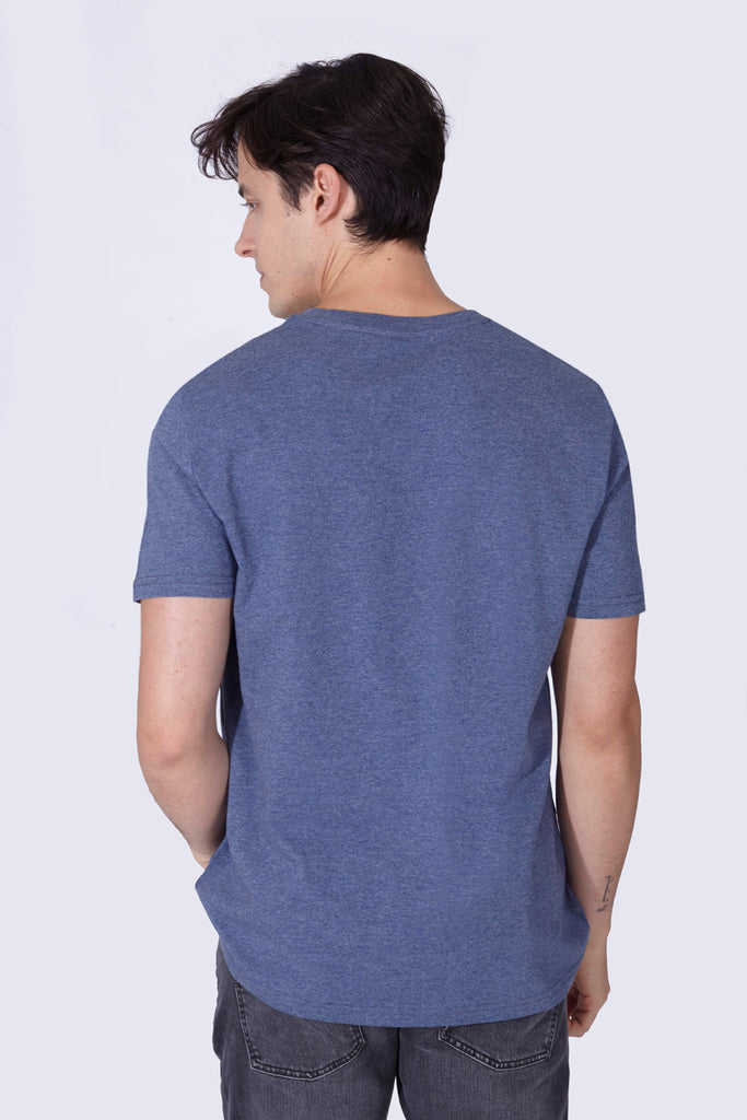 ANTIGENTLEMAN T-SHIRT HEATHER BLUE