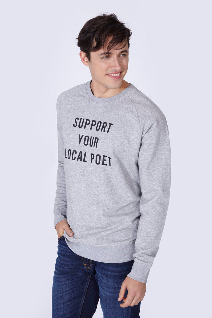 SUPPORT SWEATSHIRT GREY
