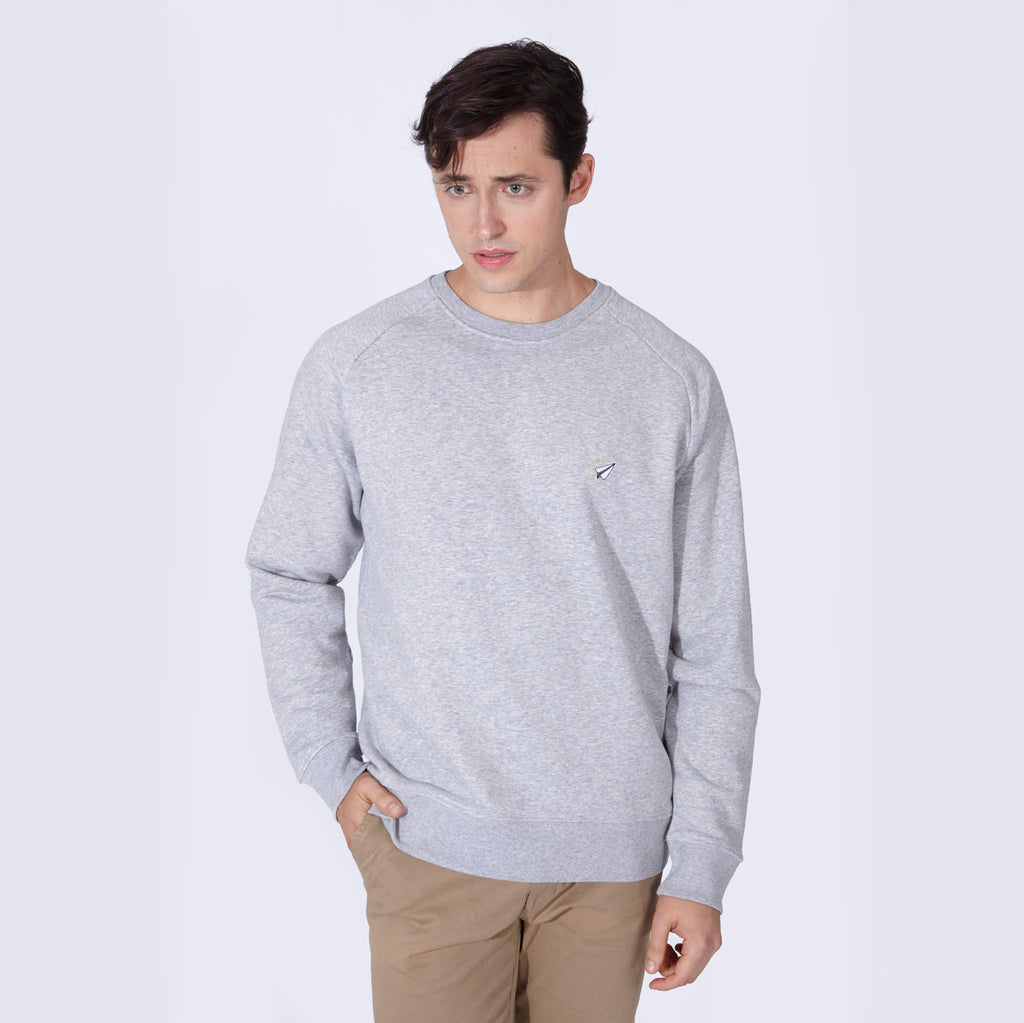 PLANE SWEATSHIRT HEATHER GREY