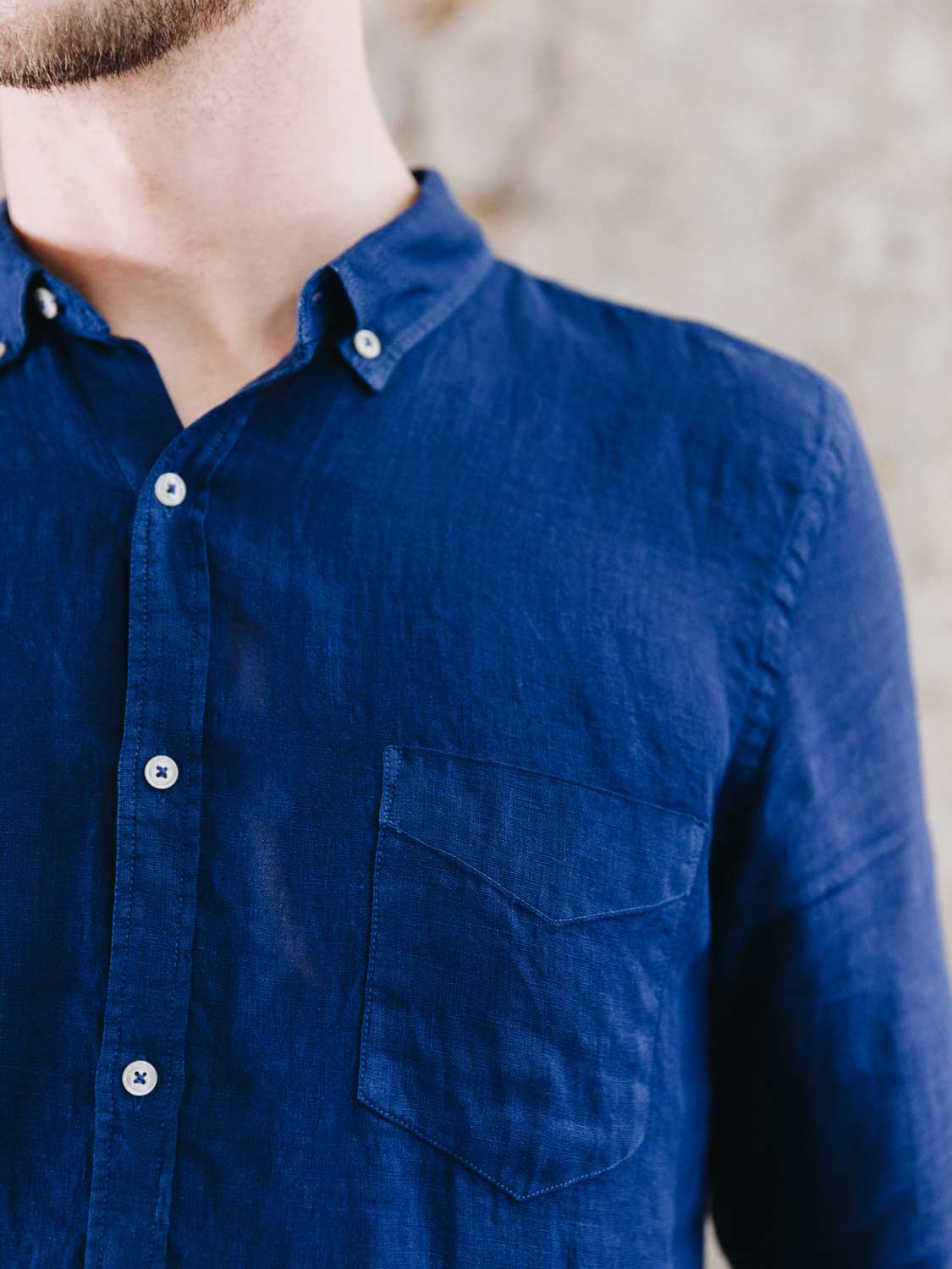 TERRY LINEN SHIRT KLEIN