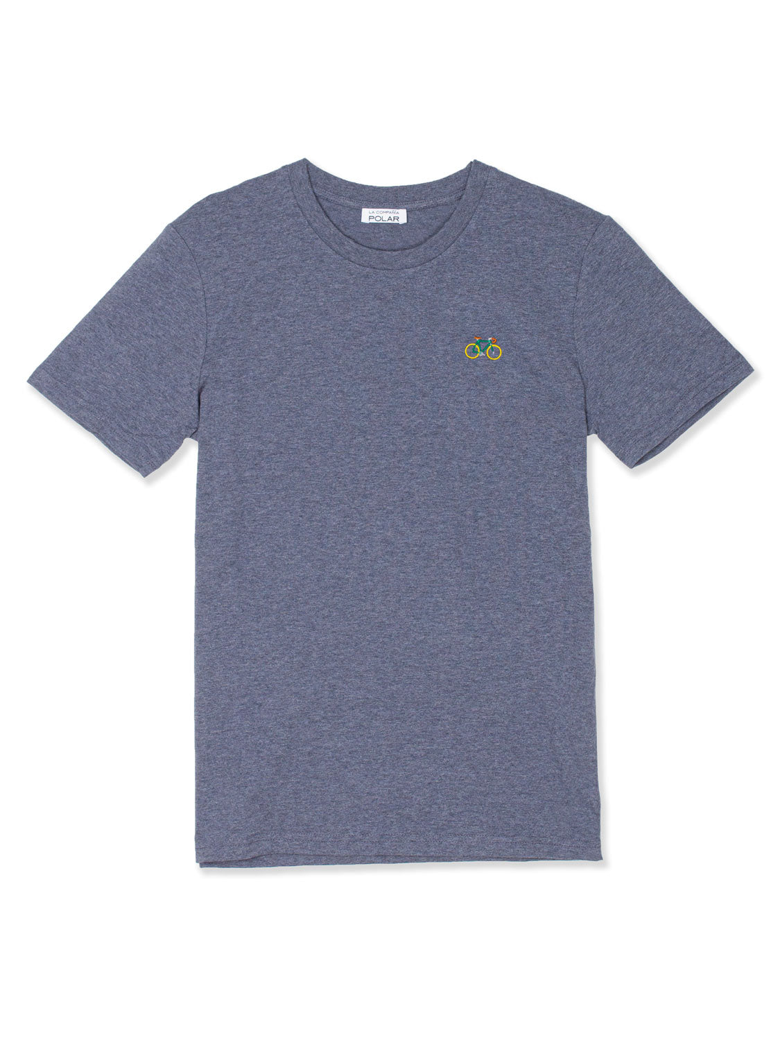 BIKE T-SHIRT HEATHER BLUE