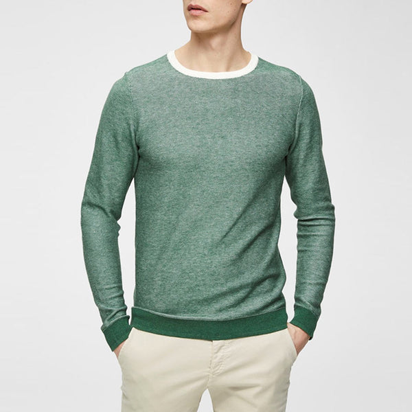 BLOCKING SWEATER GREEN