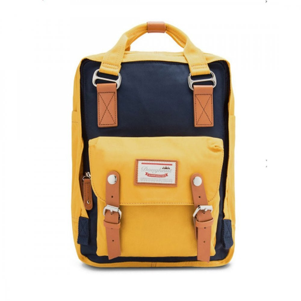 MACAROON BACKPACK NAVY MUSTARD