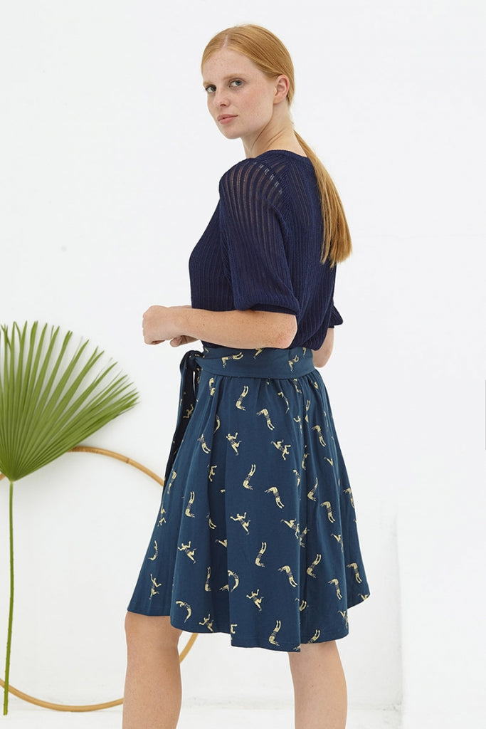 DELPHINE SKIRT NAVY