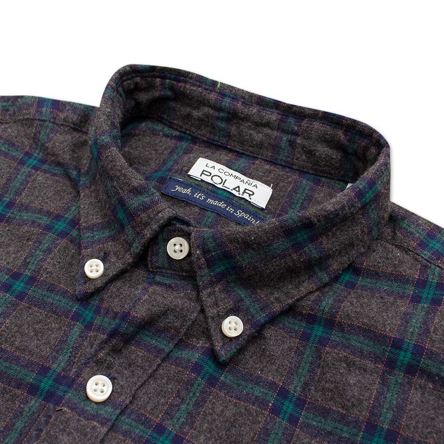 Camisa Road Dark Grey Flannel