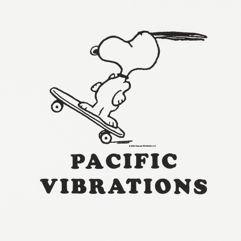 PACIFIC VIBRATIONS RANGLAN TEE WHITE