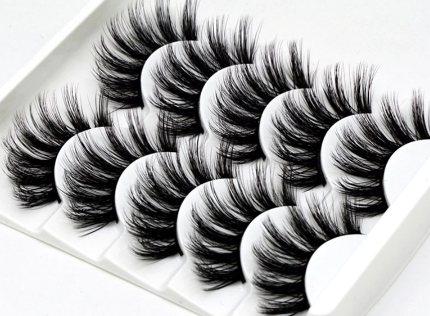 What are false lashes made of?