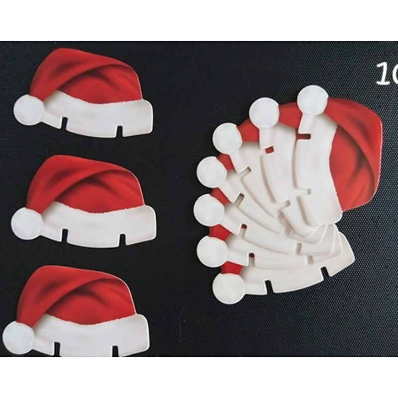 10 pcs Table Place Paper Cards Christmas Santa