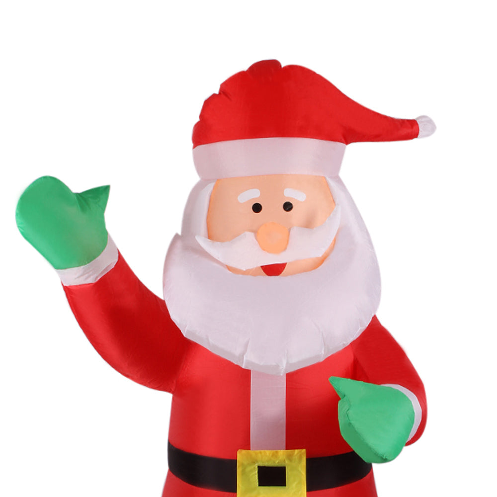 1.8m Inflatable Waving Hand Father Christmas Inflatable Santa Claus