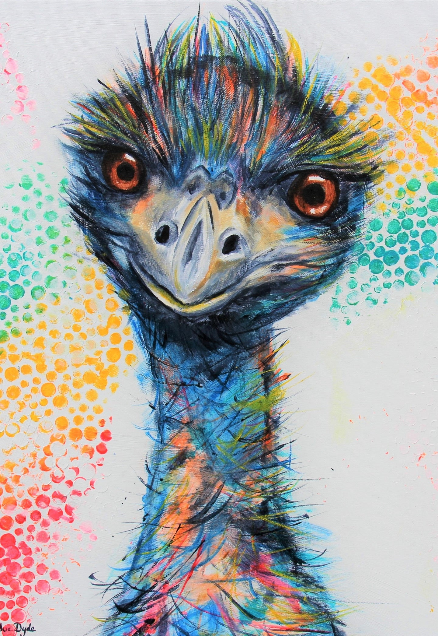 The Rainbow Emu A3 Print Free Shipping