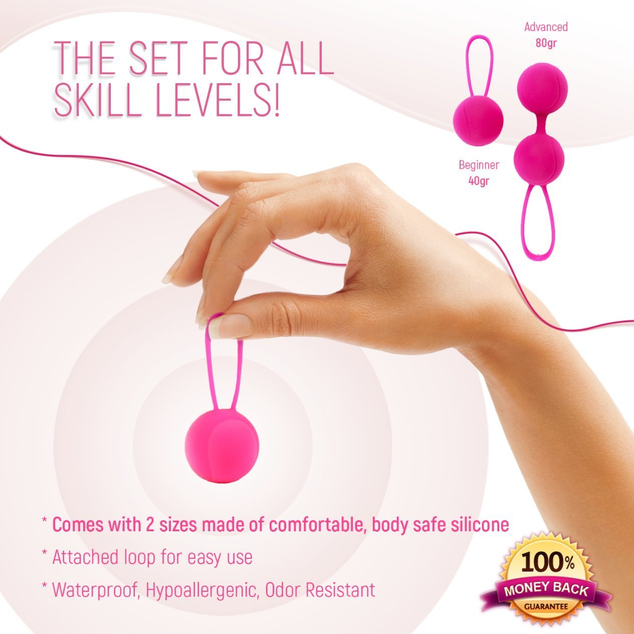 Kegel Balls for Beginners & Advanced Kegel Weights for Women Pelvic Floor Muscle Exercise, Bladder Control, Post Pregnancy Childbirth Recovery Ben Wa Balls Sets Yoni Egg for Sexual Health