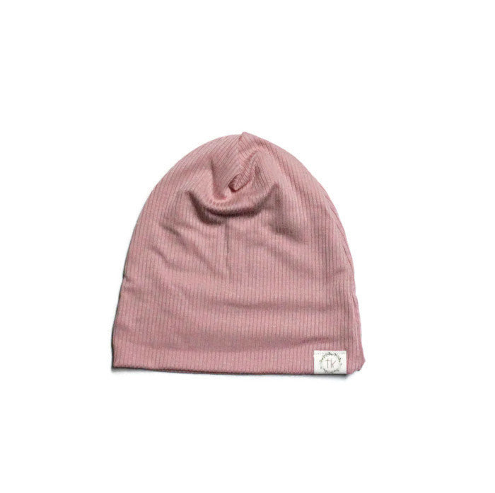Muted Pink Slouch Beanie