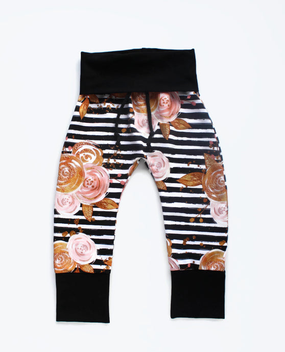 Floral Striped Joggers