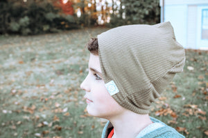 Olive Slouch Beanie