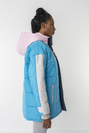 Blue ice cube jacket